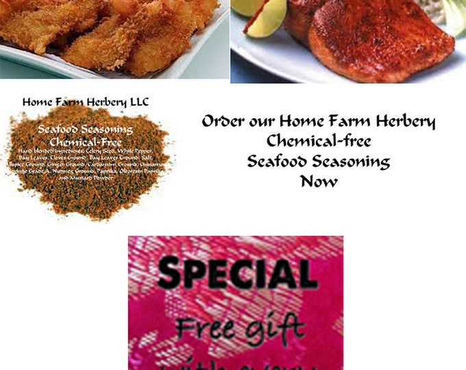 Seafood Seasoning, a perfect blend and when you order now you get a free gift