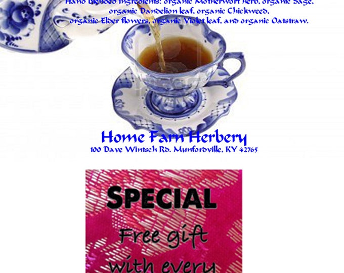 """No More Hot Flashes Herbal Tea soothing those hot """"power surges"""" often associated with menopause. Order now."""