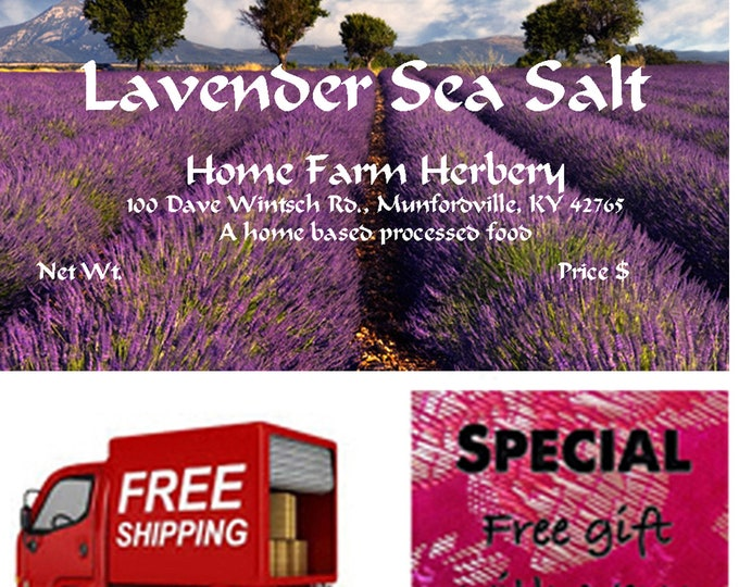 Order Lavender Sea Salt Rub now, special sale, reduced price, a free gift, FREE shipping!