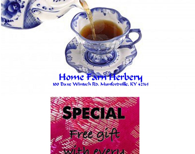 Cold and Sick Tea Blend This light refreshing cup packs a protective punch!  Order now.