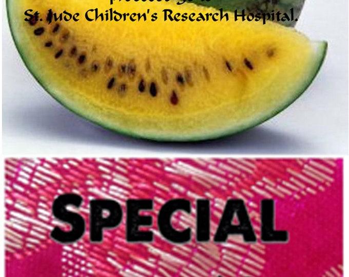 Every Garden needs these rare Missouri Heirloom Yellow Flesh Watermelon Seeds, FREE gift