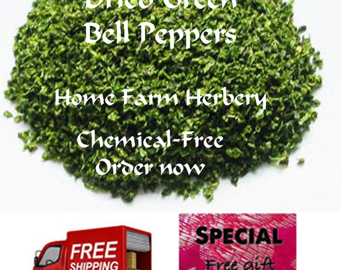 Order the Best Green Bell Peppers Freeze Dried now, FREE shipping and a FREE gift