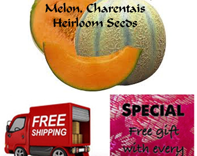 Order Melon, Charentais Heirloom seeds now, Special sale, reduced price, free gift, free shipping!