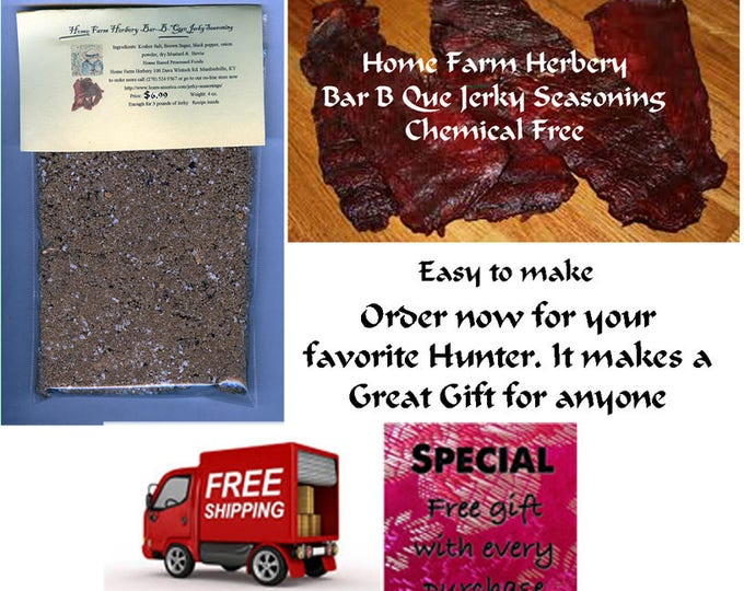 Bar-B-Que Jerky Seasoning enough for 3 pounds of meat Order now