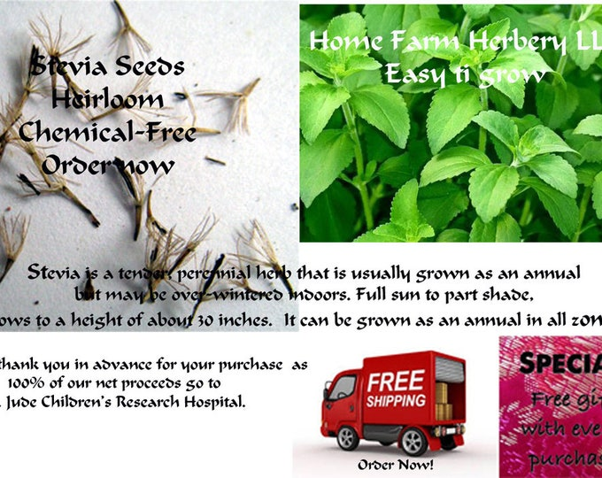 Plant some stevia seeds this year.  This is a great gift item for your favorite gardener. Order now.