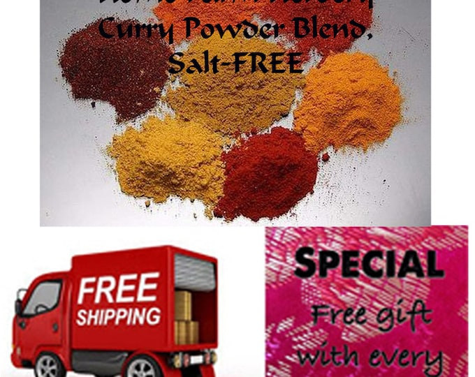 Order the best Salt-FREE Curry Powder Blend now with Free shipping and a free gift