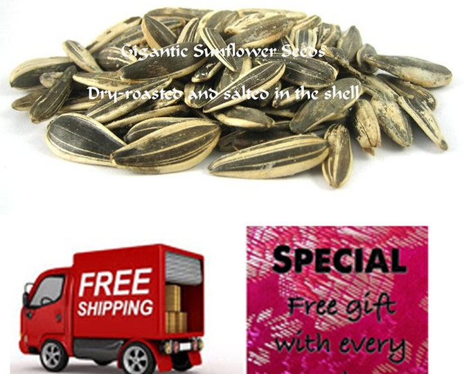Arlene's Gigantic Salted Sunflower Seeds. Order this Healthy long shelf life treat now & get a FREE Shipping + gift.