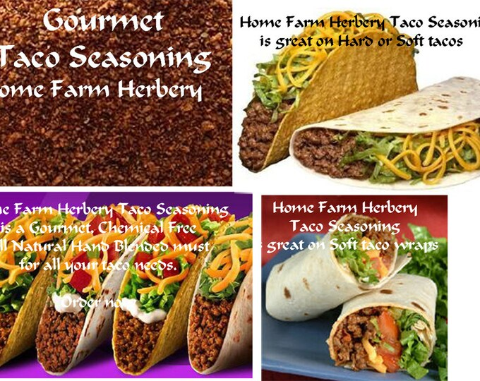 Authentic Taco Seasoning, all natural, chemical free, Order yours now.