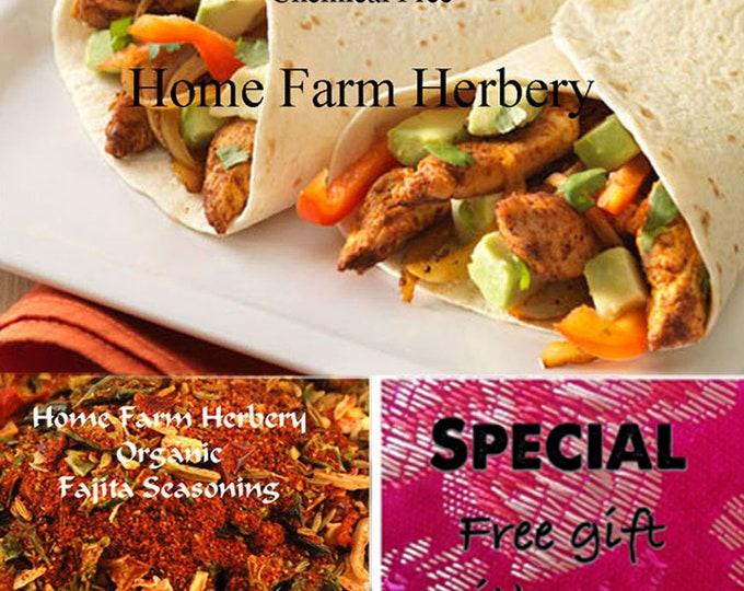 Order the BEST Fajita Seasoning now, special sale, reduced price, a free gift!