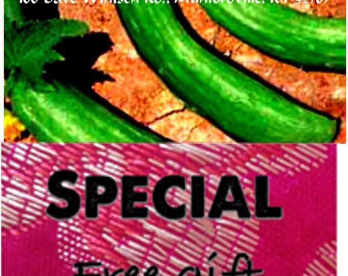 Order Cucumber, Chinese Snake Heirloom Seeds now, special sale price & a Free gift.