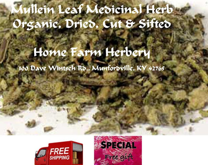 Our Herbery Mullein Leaf Medicinal Herb is all natural, Dried, Cut, Sifted and pesticide free.Order now