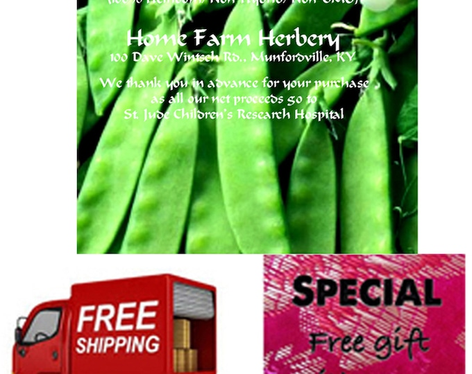 Order Peas Oregon Sugar Pod Heirloom Seeds now, Special sale, reduced price, FREE shipping, FREE gift
