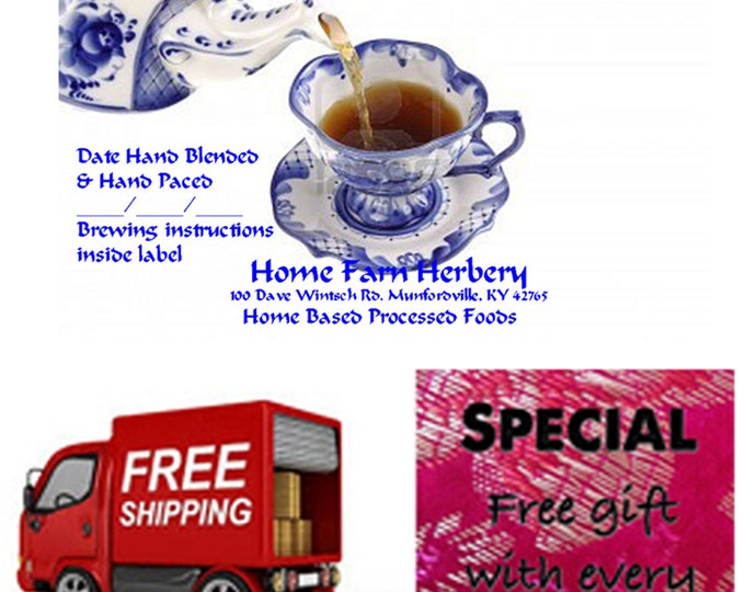 FREE Gift and FREE shipping when you order our Hand Blended Wild Blackberry Tea now