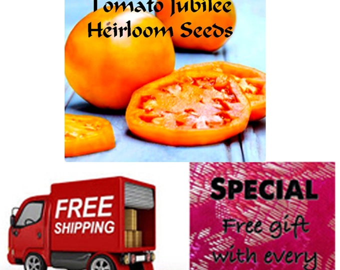Order the BEST Tomato Jubilee Seeds, Special sale, reduced price, Free shipping, free gift included when you order now.