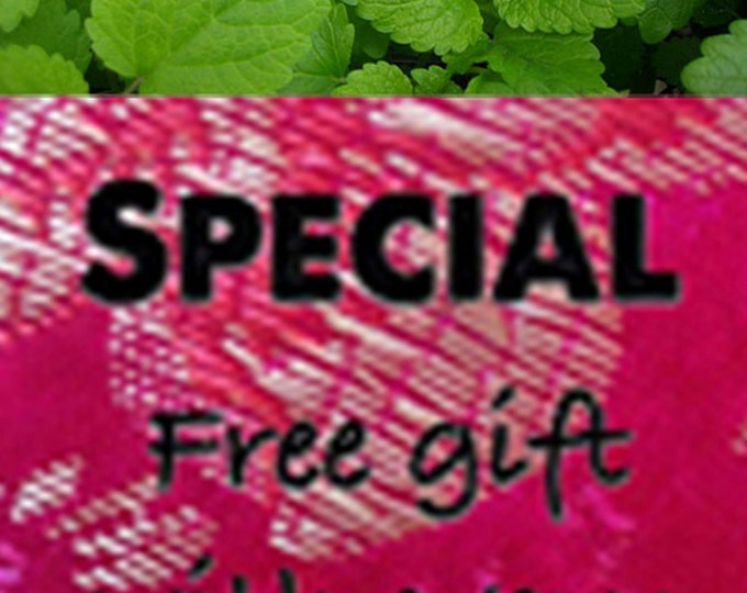 Order Lemon Balm Seeds (Non-Hybrid/Non-GMO) now & get a free gift