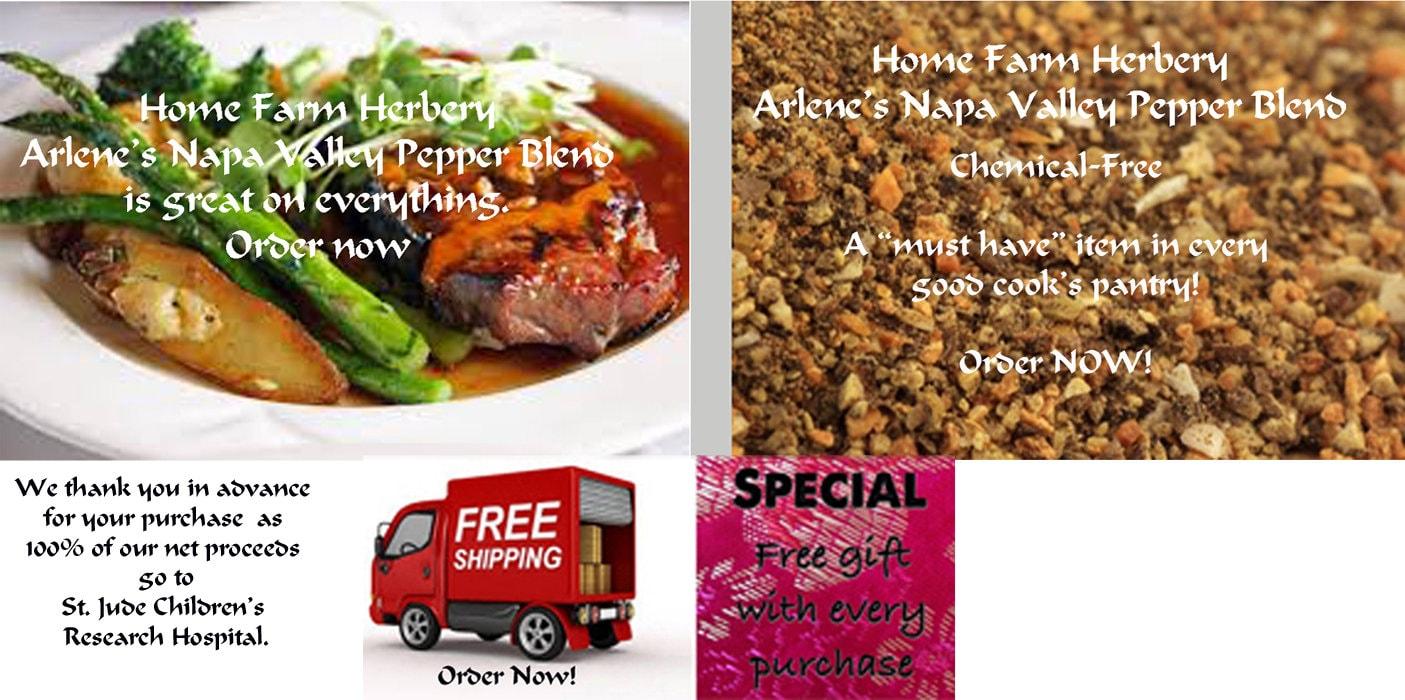 Arlenes Napa Valley Pepper Blend Order now FREE shipping  eedeeefdac83