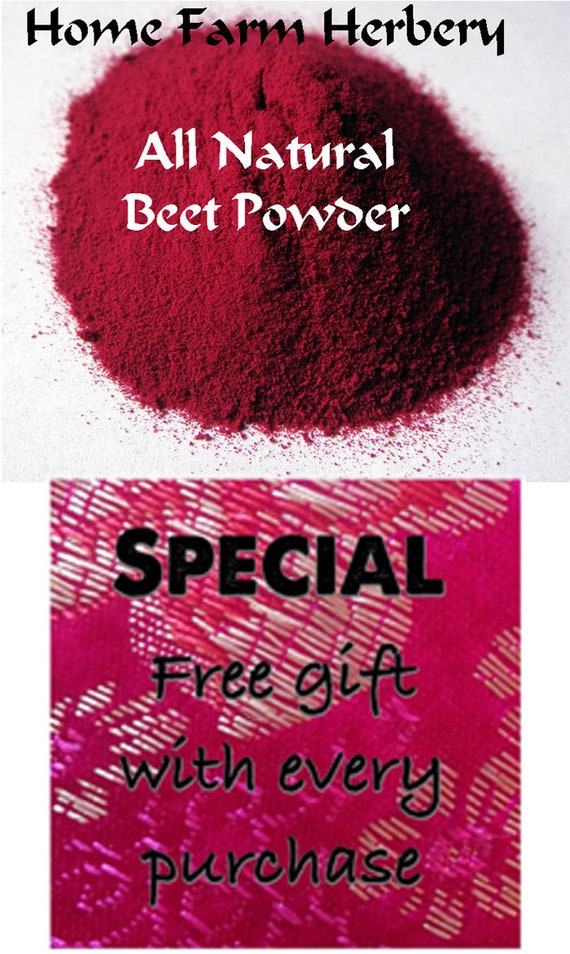 Beet Powder use it as a great natural food coloring, baking, frosting,  cakes, cookies, pasta, sauces and gravies Order today free gift