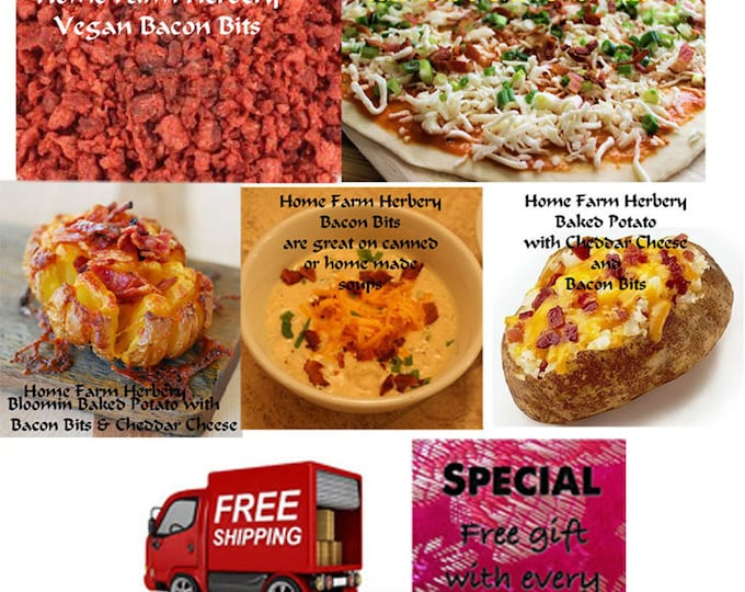 Vegan Bacon Bits, Order now, Delicious, Healthy and good for you