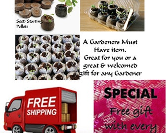 Seed Starting Plant Pellets shipped FREE in the USA