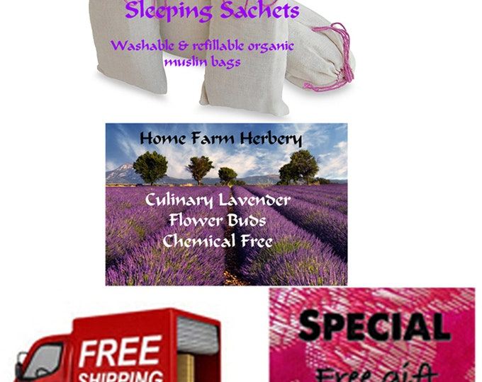 Lavender Bud Sleeping Sachets a great gift idea any time of the year