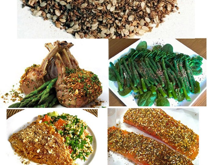 Dukkah pure Egyptian Seasoning Order now & get a terrific seasoning for meat, fish, veggies and more