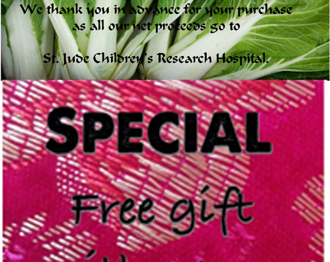 Order Cabbage Chinese, Bok Choy (White Stem) Seeds, now & get a FREE gift