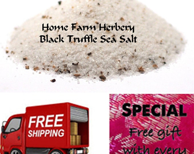 Order Black Truffle Sea Salt now, special sale, reduced price, free shipping & a free gift!