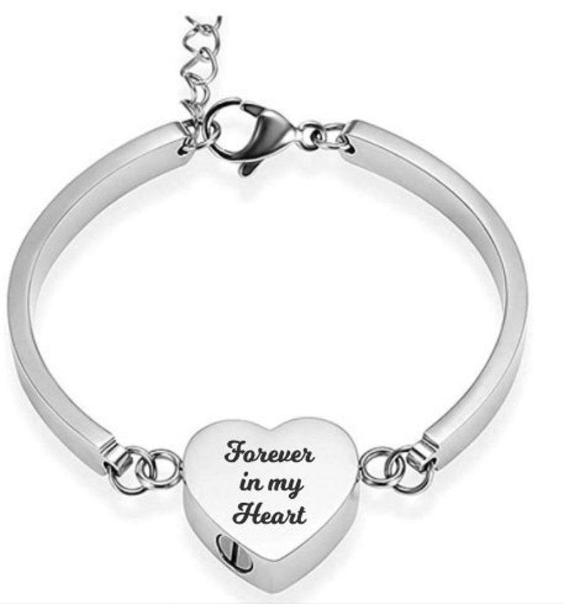Forever In My Heart ~ Heart Bracelet Urn