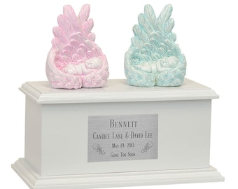 Protected By Angels Twin or Triplet Infant Urn