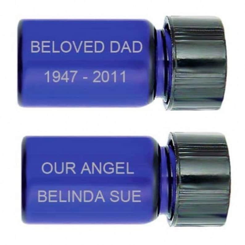 Butterfly Blue Cobalt Pendant Urn Love Charms Option