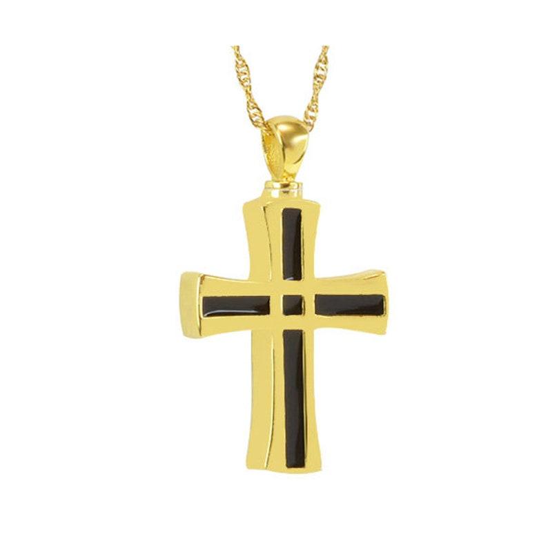Unisex Chain Link Cross Gold Pendant Urn Love Charms\u2122 Option