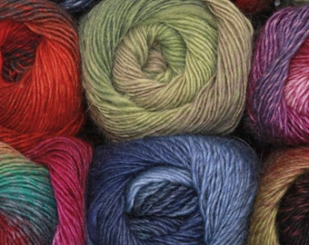 Drops Delight, Mix or Match 4-6 Skein Sets of Self-Striping Fingering Yarn