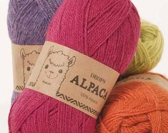 5- or 6-Packs Mix-or Match Garnstudio Drops Alpaca