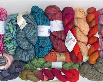 Mystery Grab Bags, Fingering and Sock Premium Yarns Surprise Selection