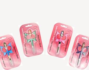 Angel Scissors: Small, Sharp Needlecraft Scissors in Fun, Colorful Designs