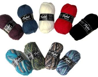 Mix or Match Sets of Garnstudio Drops Fabel and Fabel Print, Fingering Sock Yarn