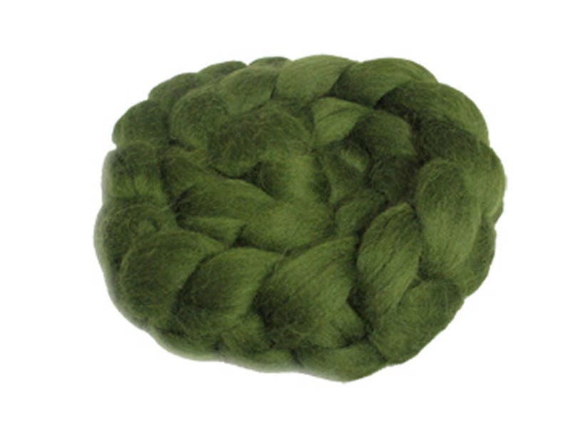 Felting 100-200 gm Fine Merino Combed Top in Shades of Green for Spinning Choose Your Green