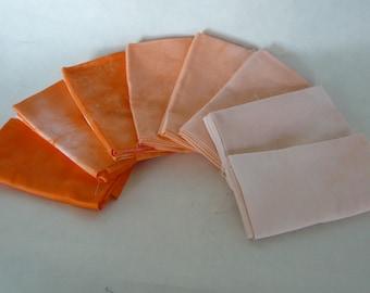 Fat Quarter bundle, Deep Orange, 8 pieces