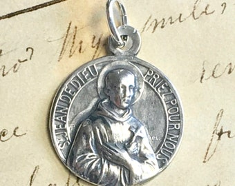 St John of God Medal - Sterling Silver Antique Replica - Patron of nurses and hospitals