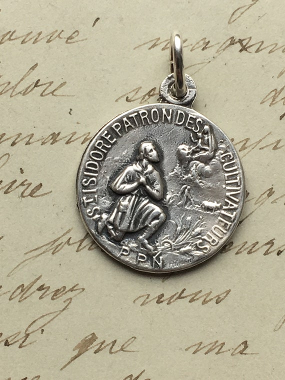 Patron of Librarians Antique Reproduction St Jerome Medal