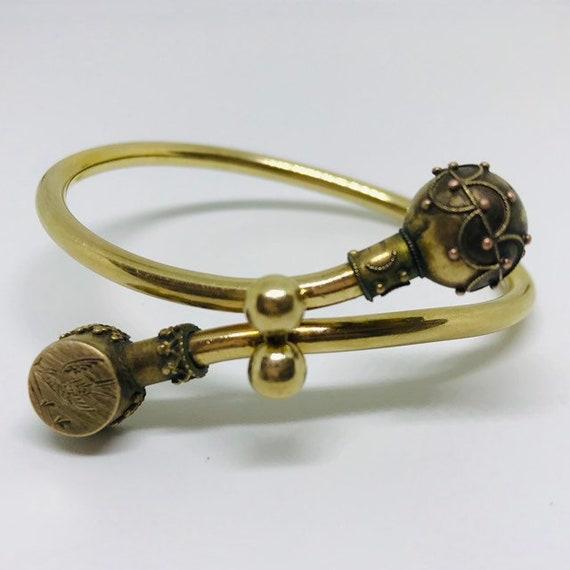 Vintage Bracelet, Vintage Cuff Bracelet, Brass Bra