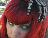 Halloween, Dia de los Muertos, Day of the dead, Skull hat, Skull, Skeleton hand, Rose, Rose hat