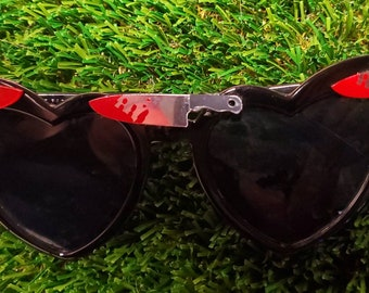 Slasher sunglasses, oddities, horror movies, Gothic, knife sunglasses, horror sunglasses