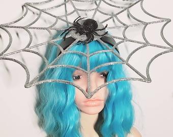 Spider web, spider. Halloween, spider, spider headband, arachnid, Halloween headband