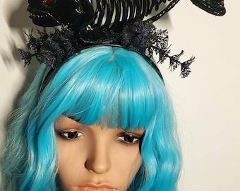 Piranha, skeleton piranha, fish, fish headband, skeleton headband, Halloween headband