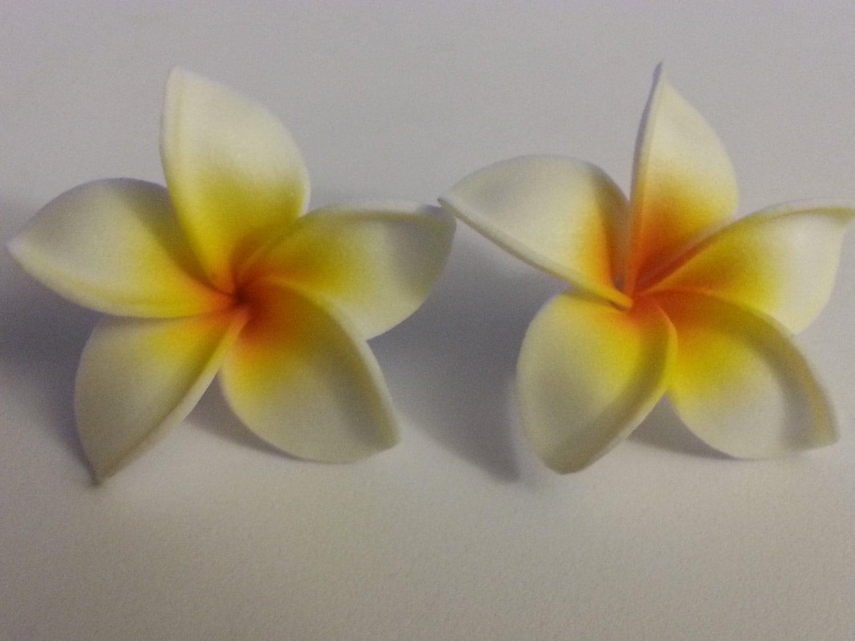 Plumeria hawaiian flower plumeria barrette plumeria flower etsy zoom izmirmasajfo