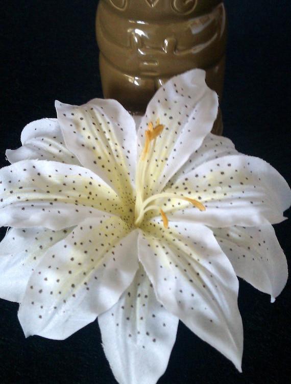 Blanche De Barrette Fleur De Lys Fleur Tropicale Barrette Etsy