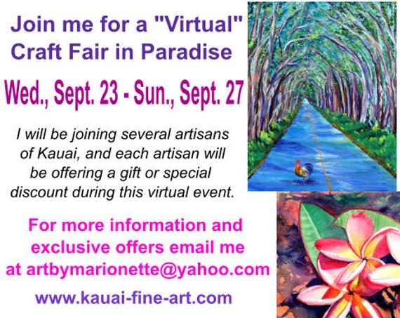Virtual Craft Fair Info
