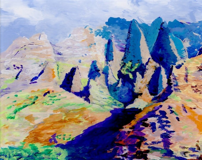 Kauai landscape art, Kauai mountains, Kauai Na Pali Coast, Kauai by boat, Kauai seascape painting, Kauai art, Kauai paintings, Original art