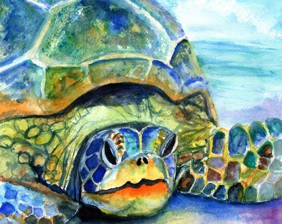 sea turtle print kauai art hawaii art sea turtle prints hawaiian honu sea turtle gifts turtle decor nautical nursery kids room decor